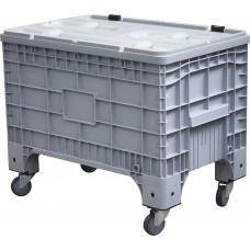 Big Box 1017х636х793 мм на колёсах с крышкой на петлях серый